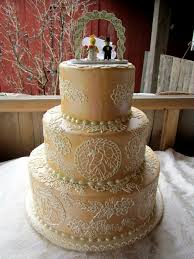 Rustic Lace Wedding Cake The Bride Requested A Lacy Lookin Flickr