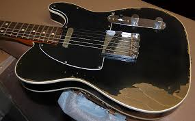 2016 Fender 1960 Heavy Relic Telecaster Black Finish Custom Tele Shop Light Weight RARE