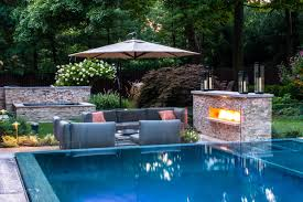 Spectacular Luxury Small Homes by Swimming Pool Landscape Design Image On Luxury Home Interior