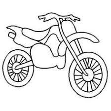 Easy Dirt Bike Drawing