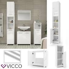 vicco 1uw121279 hochglanz badezimmerschrank weiß