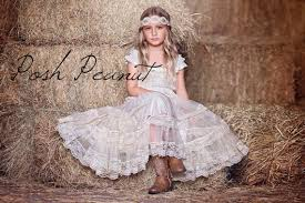 Lace Rustic Flower Girl Dress