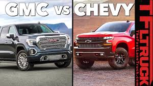 100 Gmc Trucks 2019 GMC Sierra 1500 Top 7 Ways Its Different From The Chevy