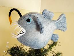Black Angel Christmas Tree Topper by Felt Angler Fish Tree Topper Now I Am Not Sure Why One Would Need