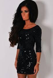 black sequin backless dress dress ty