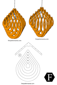 Laser Cut Lamp Dxf by Drop Chandelier Light Free Dxf File For Laser Cutting