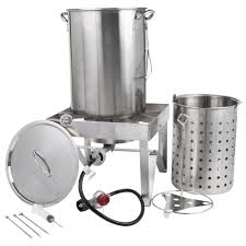 Backyard Pro All Stainless Steel Turkey Fryer Kit / Steamer Kit ... Backyard Pro 30 Quart Deluxe Turkey Fryer Kit Steamer Food Best 25 Fryer Ideas On Pinterest Deep Fry Turkey Fry Amazoncom Bayou Classic 1195ss Stainless Steel 32 Accsories Outdoor Cookers The Home Depot Ninja Kitchen System 1500 Canning Supplies Replacement Parts Outstanding 24 Basic Fried Tips Qt Cooking 10 Pot Steel Fryers Qt