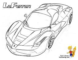 Enter Heart Pounding Ferrari Colouring 01 At YesColoring