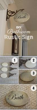 Easy To Make DIY Rustic Bathroom Sign For Decor Istandarddesign