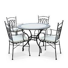 table ronde mosaique fer forge salon de jardin fer forge et mosaique qaland