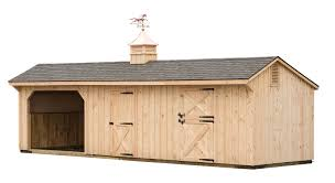 10x30 Run In Shed - Shed Row Barn Combo - B-24 Cupola With Horse ... Shedrow Horse Barns Shed Row Horizon Structures 14 For Horses A Living Flame Eddie Sweat And Dc Woodys 100 California Lean To Style Dry Lshaped Barn 48 Classic Floor Plans Leanto J N Dutch Doors Gates Amish Built Sheds Keystone