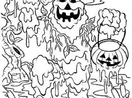 Scary Halloween Coloring Pages Printables