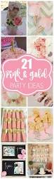 Pink And Gold Birthday Themes by Best 25 Pink Gold Party Ideas On Pinterest Pink And Gold