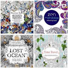 2016 Adult Coloring Books 4 Designs Secret Garden Lost Ocean Time Travel Zen Mandalas 24 Pages Kids Painting Colouring Children