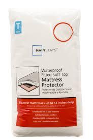 mainstays waterproof fitted soft top mattress protector walmart com