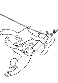 Curious George Coloring Pages Games To Print Book Pictures Day Free Monkey Full Size