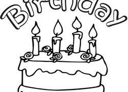 Color The Happy Birthday Cake