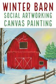 Social Artworking Winter Barn