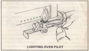 Lighting the motorhome s oven pilot light