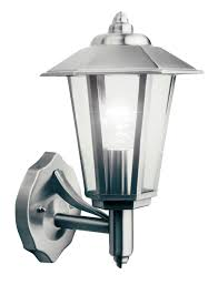 newport stainless steel mains powered external wall lantern
