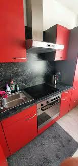 küche küchenzeile einbauküche in rot e geräte guter zustand