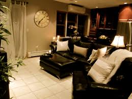 Black Leather Couch Living Room Ideas by Living Room Brighten Up Dark Couches With Light Pillows These