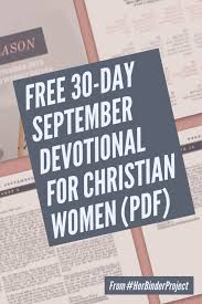 FREE 30 Day Devotional For September Called In Every Season