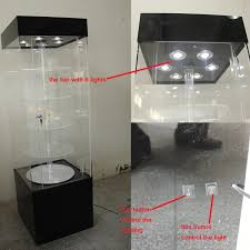Factory Custom 5 Tier Lighted Rotating Cell Phone Accessories Display Rack Acrylic Mobile Shop