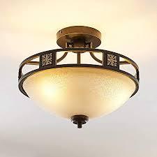 lindby deckenle ferre landhaus vintage rustikal in braun aus metall ua für wohnzimmer esszimmer 3 flammig e27 a deckenleuchte
