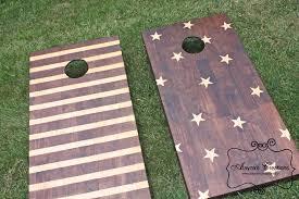 Stars And Stripes Corn Hole Boards DIY Tutorial Home Decor
