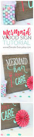 Disney Little Mermaid Bathroom Decor by How To Make This Cute Mermaid Sign Didn U0027t Even Have To Make The