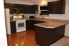 dark kitchen cabinets with white appliances angreeable decor