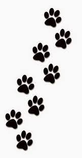 cat paw prints paw prints template printables print templates