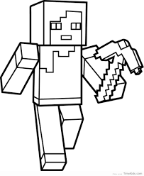Ingenious Ideas Minecraft Coloring Pages Ender Dragon Creeper Stampy Steve Sword Mobs Pickaxe