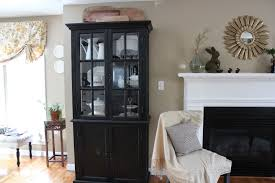 Make Liquor Cabinet Ideas by Cream Wall Black Liquor Cabinet That Can Be Decor With Black