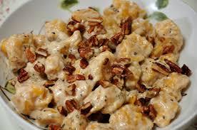 Pumpkin Gnocchi Recipe sweet potato gnocchi with sage cream sauce wishes and dishes