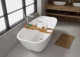 the bath badewannenablage aus bambus verstellbar
