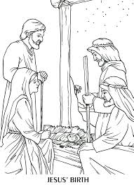 The Birth Of Jesus Coloring Page