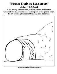Jesus Raises Lazarus Draw The Scene 001