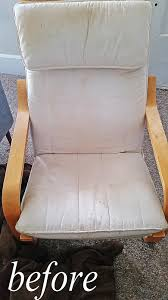 Ikea Poang Chair Cushion And Cover by Grosgrain Simply Spray Fabric Paint Makeover