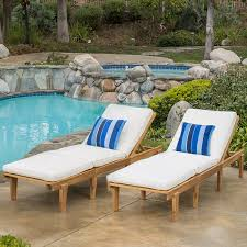 Amazon Patio Lounge Cushions by Amazon Com Set Of 2 Paolo Outdoor Teak Brown Wood Chaise