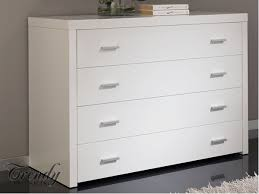 Chelo White High Gloss Chest of Drawers