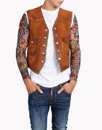dsquared2 suede leather vest vests men dsquared2 online store