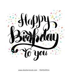 Lettering clipart happy birthday Pencil and in color lettering