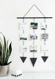 A Great Way To Display Your Favourite Small Postcards Or Photos The Monochrome Colours Really Pop Out Against Wall Too