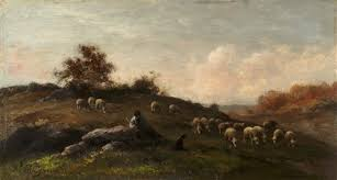 le berger et ses moutons by jean ferdinand chaigneau on artnet