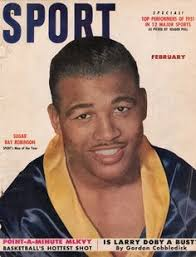 Sugar Ray Floored Full Album by Joe Louis And Sugar Ray Robinson In Their Military Attire These