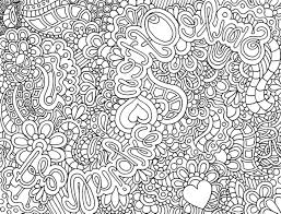 Complex Coloring Pages For Teenagers