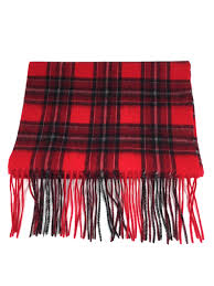 licensed bradley university tartan cashmere scarf for men and