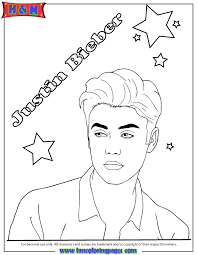 Good Justin Bieber Coloring Pages 23 On Print With